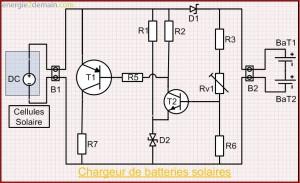 Schéma Électrique du Chargeur de Batterie Solaire