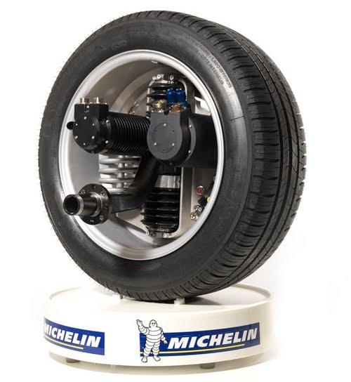 Active Wheel : moteur de traction et moteur de suspension