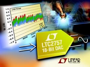 CNA 18 bits, sortie en courant, INL et DNL garantis de  ± 1 LSB