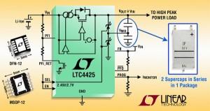 Chargeur linéaire de supercondensateurs 2A, 2 cellules avec équilibrage automatique