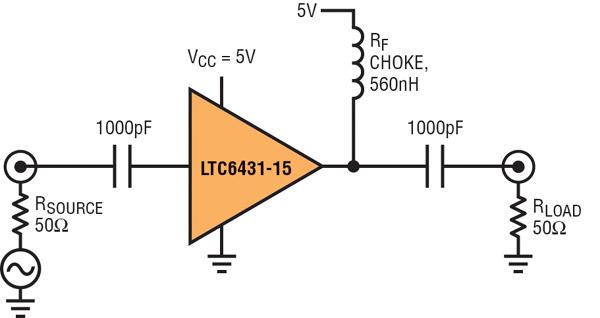 Figure 4: Amplificateur FI asymétrique