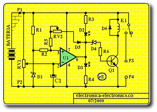 schema chargeur de batterie automatique