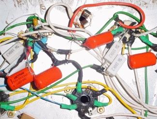 Détail des tubes de préampli et du diviseur de tension
