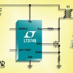 Contrôleur DC/DC à récupération d'énergie, 100 V, isolé, 150°C