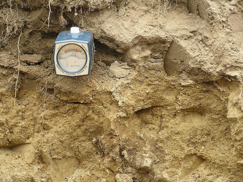 Méthode simple de mesure de l'humidité et du pH du sol avec compensation de température
